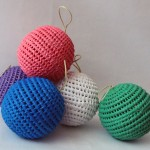 Boules de Noël artisanales - lot de 2